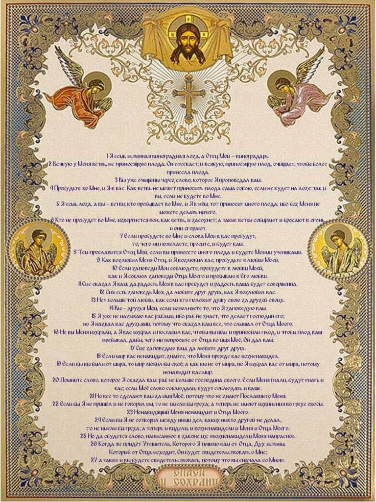 Скачать на телефон Евангелие от Иоанна (глава 15)