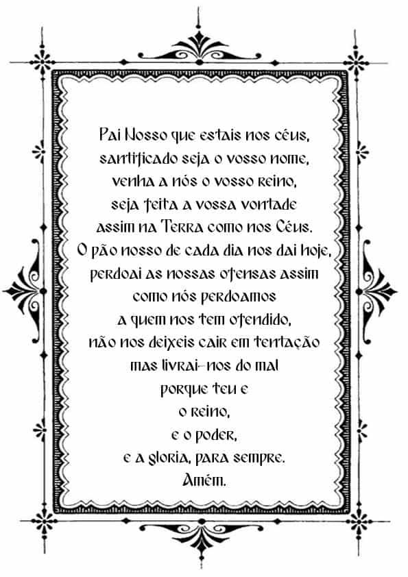 """Распечатать молитву """"Отче наш"""" на португальском"""