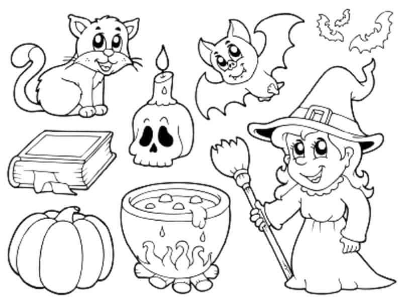 Расскраски для детей на Хэллоуин №6