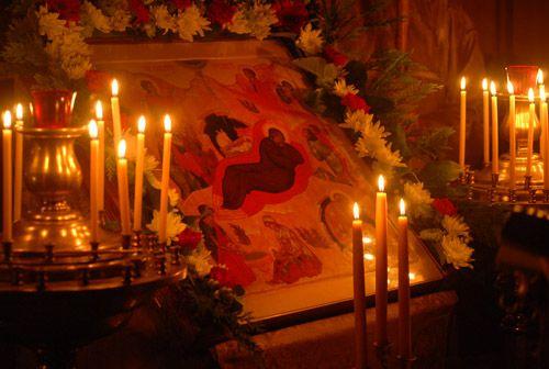 Посещение храма в Рождество Пресвятой Богородицы