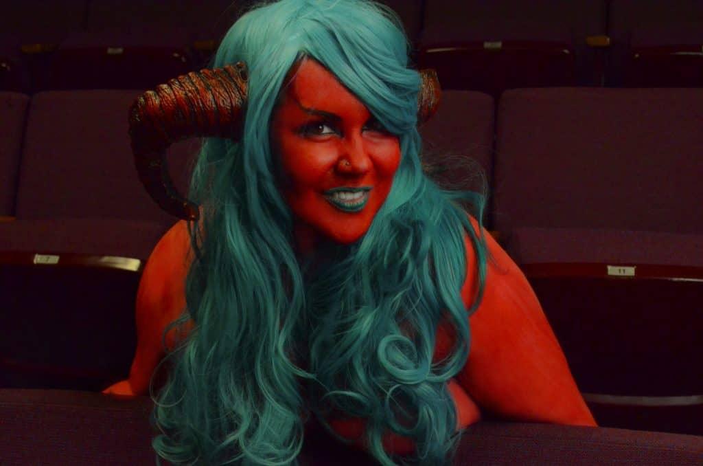 Образ дьявола на Хэллоуин