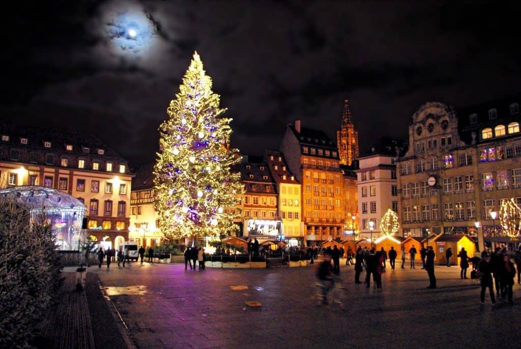 Празднование Рождества в Страсбурге