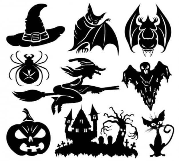 Шаблон для вырезания на Хеллоуин №1