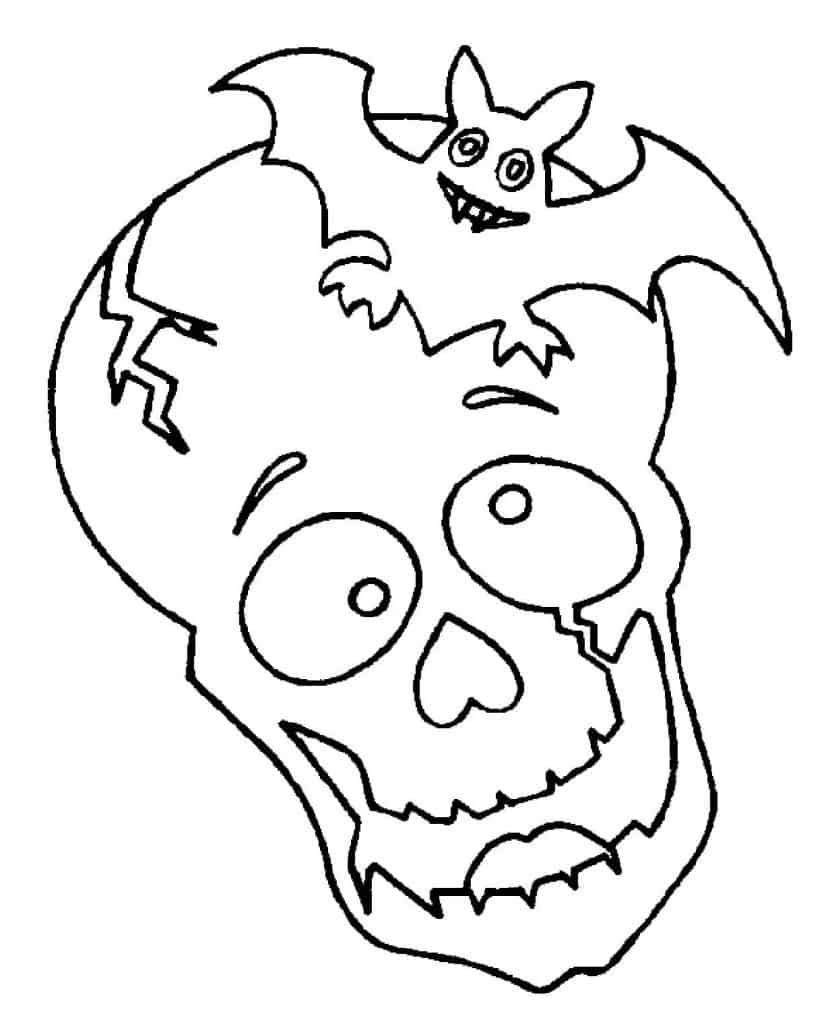 Расскраски для детей на Хэллоуин №1