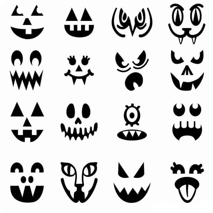 Шаблон для вырезания на Хеллоуин №2