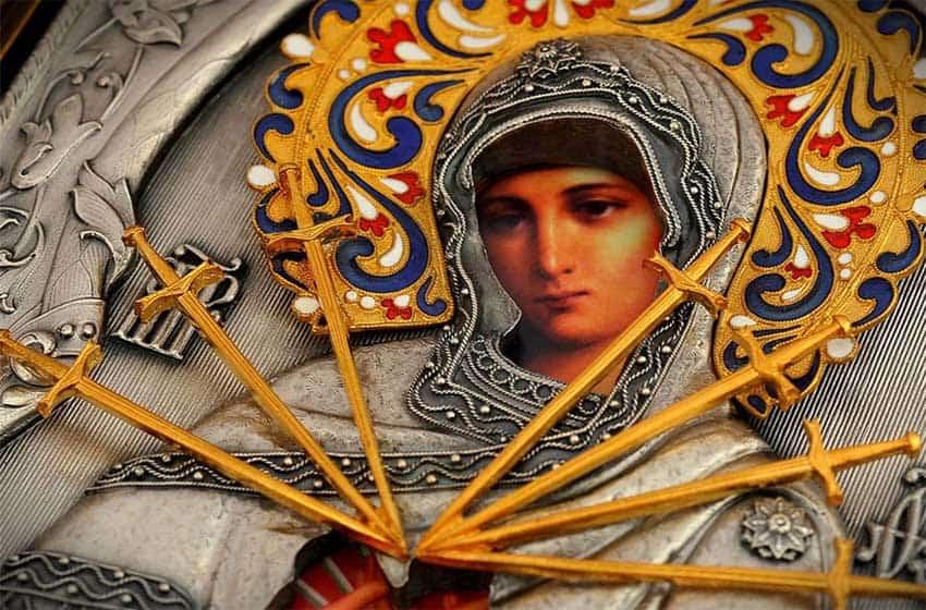 Молитва перед иконой Богородицы «Умягчение злых сердец» (Семистрельная)