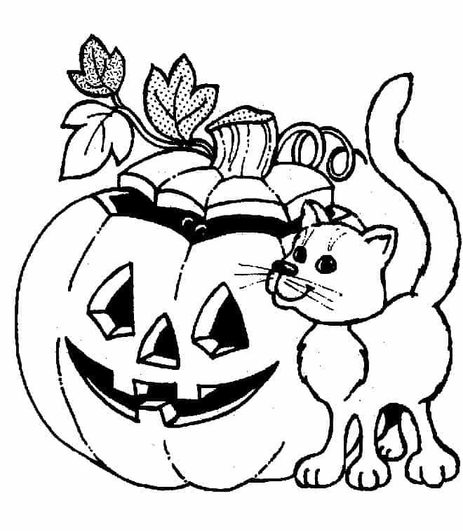 Расскраски для детей на Хэллоуин №2