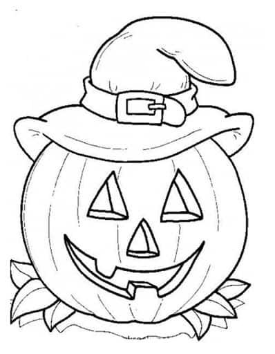 Расскраски для детей на Хэллоуин №3