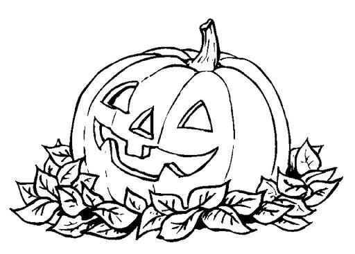 Расскраски для детей на Хэллоуин №5