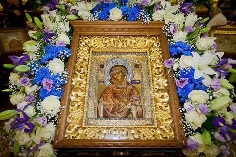 Читать онлайн Ин тропарь Пресвятой Богородице пред иконой Ея «Феодоровской», глас 4 (с переводом)