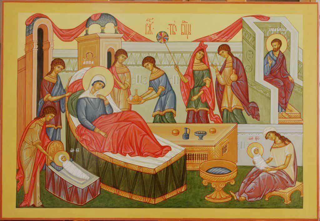 """Вариант иконы """"Рождество Пресвятой Богородицы"""""""