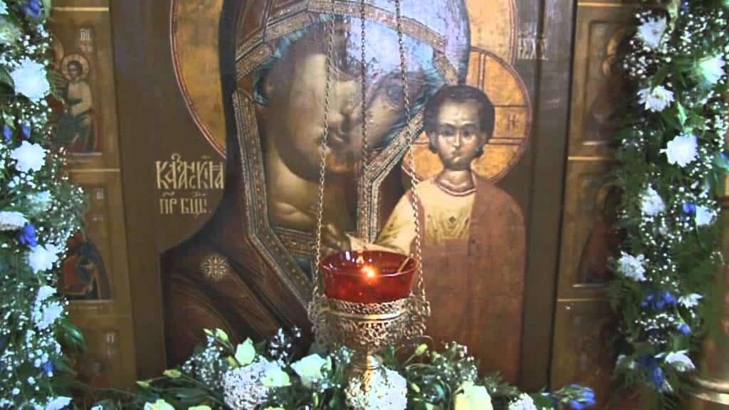 Кондак Пресвятой Богородице «Казанской», глас 8