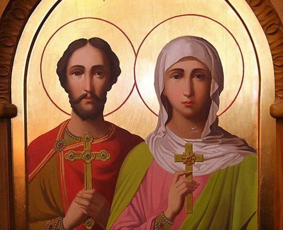 Молитва святым мученикам Адриану и Наталии