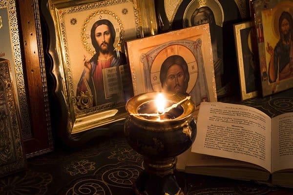 Молитва на церковнославянском языке с ударением и переводом