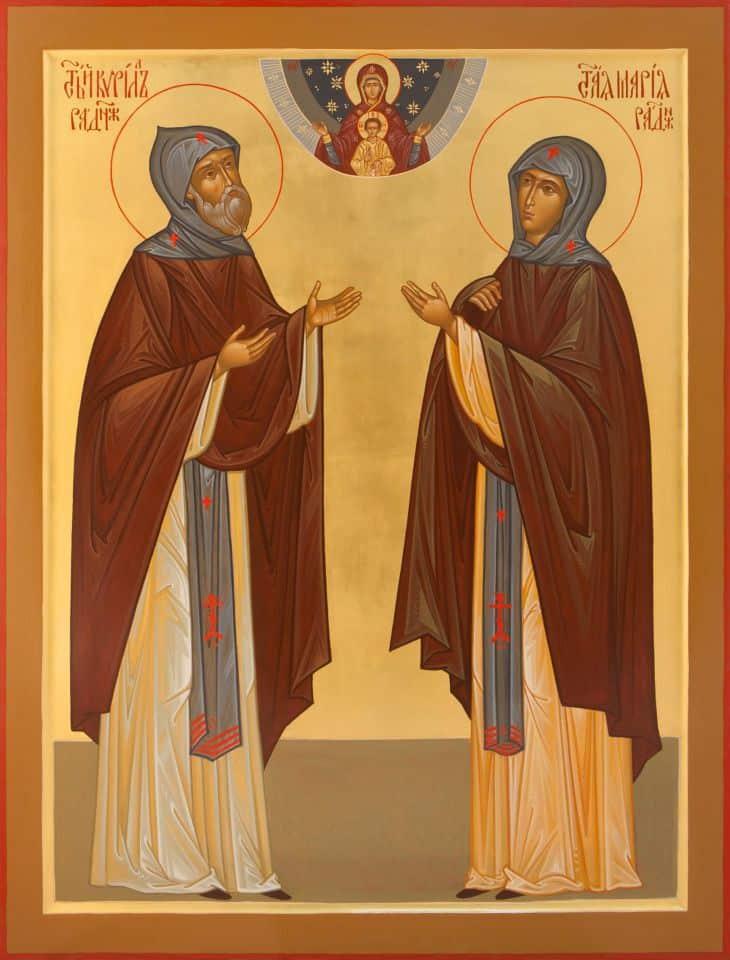 Фото ликов святых Кирилла и Марии Радонежских